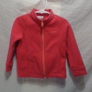 Columbia 3T Zip up Fleece Pink W/Orange Zipper